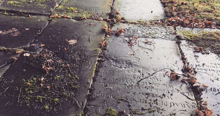 St. Mary's Church, Stafford – Gravestones and typography