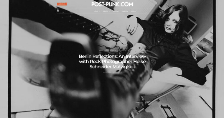 Post-Punk Feature Of My London Rock Photography Career